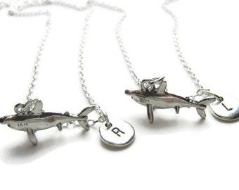 2 Personalized Shark Best Friends Necklaces, 2 Best Friends Necklaces, Shark Necklace, Shark Best Friends Necklaces