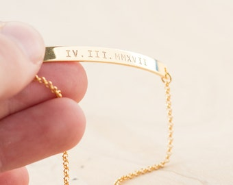 WEDDING DATE bracelet due date jewelry personalized date