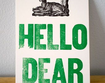 Hello Dear Notecard