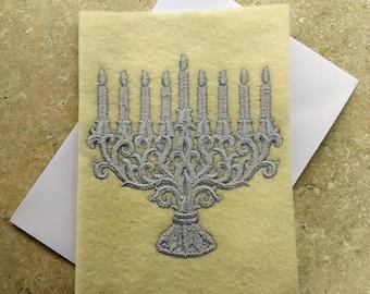 Holiday Cards - Baroque Menorah