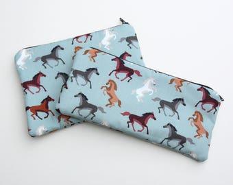 Horse Cosmetics / Make up Bag or Pencil Case