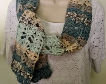 Lacy Narrow Scarf - scarf, lacy scarf, neck warmer, accessory, cowl, women's scarf