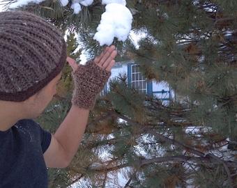 Brown Fingerless Gloves