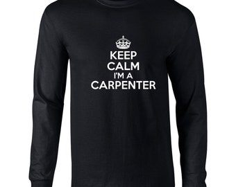 Keep Calm And Let The Carpenter Handle It Mens Hoodie Funny