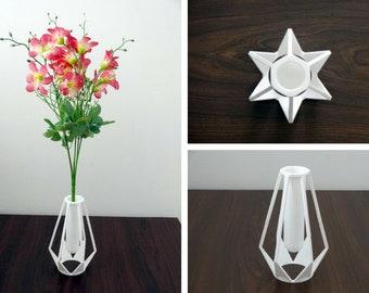 3D Printed Vase - Stl files & pdf instructions | DIY Modern Vase