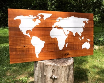 World Map Map Wood World Map Rustic Wood Sign Rustic Home Decor Farmhouse  Farmhouse Decor World Map Art Rustic Wood Map Wood Map Wood Sign