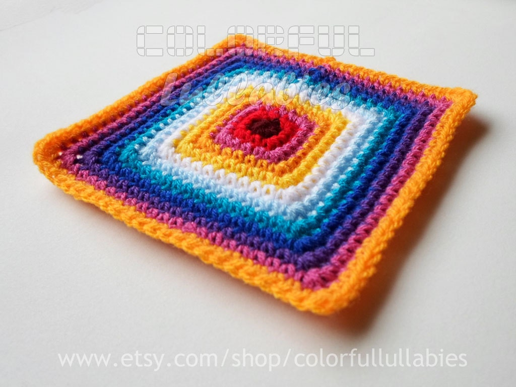 Single Crochet Solid Square chart. Pattern No 1 of the collection of ...