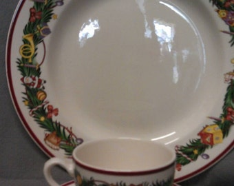 Spode Christmas Memories 3 Piece Place Setting Made in England