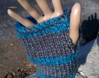Hand Knit Reflective Wristers