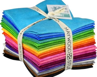 Shadow Play - (21) Fat Quarter Fabric Bundle - Maywood Studio - Finally Precuts!! - Brights bundle