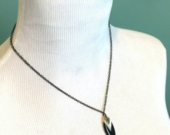 "18.5"" Black Spear Necklace"