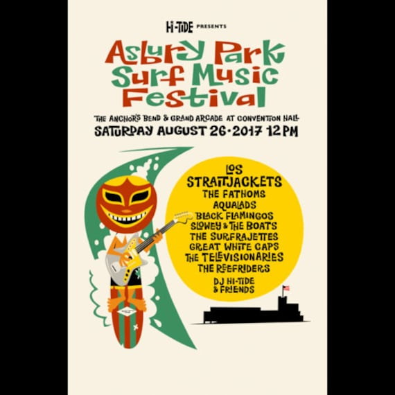 Asbury Park Surf Music Festival 2017 Poster