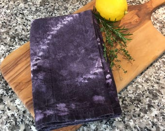 Shibori Logwood Cotton Flour Sack Towel 45cm x 80 cm natural dye