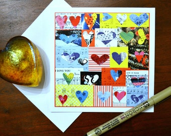 Have a Heart. Send your love a note or Valentine.  5x5 notecard with envelope.