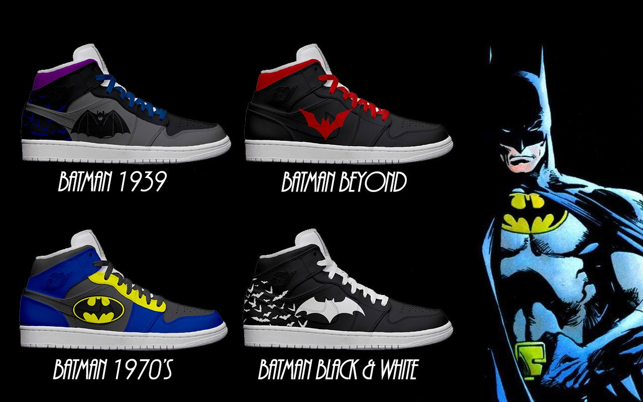 air jordan 6 batman sneakers with lights