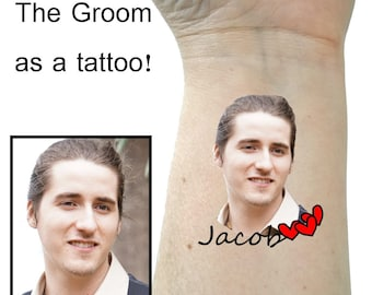 Bachelorette party tattoos Custom tattoo Groom tattoo custom picture tattoo Bachelorette tattoos party favors temporary tattoo photo tattoos