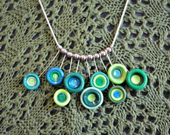 Funky Bright Green Necklace