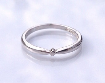 Matching Wedding Band, Sterling Silver Ring, Wedding Ring, Engagement Ring Set