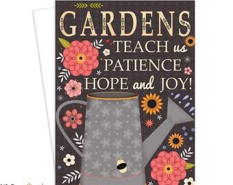 Garden, Gardening, Inspirational Greeting Card, Inspirational Art, Women, Art for Women