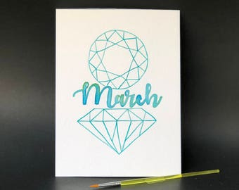 March Birthstone - Paint Kit