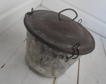 Vintage Steamed Pudding Tin Pan Bundt Angel Food