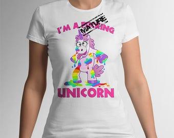 Unicorn Funny T-shirt, I'm a f*cking unicorn, Womens T-shirt, Funny Rainbow Unicorn, Unicorn ladies clothing, unicorn size S M L Xl Xxl