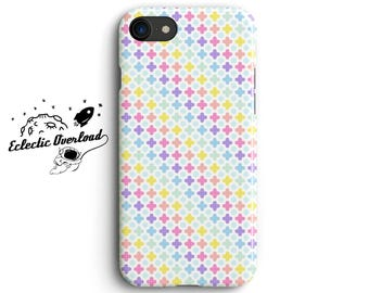 Pastel Polkadot Cross iPhone 8 case, iPhone 7 Plus case, iPhone 6s case, iPhone X case, Rainbow, spotty , dotty, Gift for blogger, her, mum