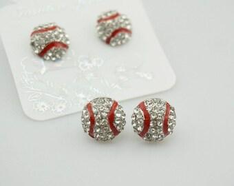 Baseball Bling Earrings