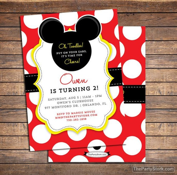 Mickey mouse invitation mickey mouse birthday invitations filmwisefo