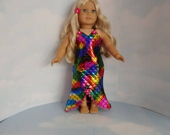 Mermaid Dress 18 inch doll clothes