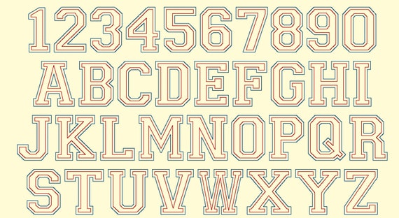 software and sport collegiate block mini font machine