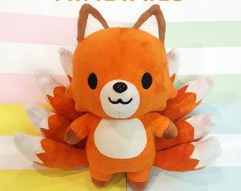 "NineTails - Mascot ""Kitsune"" Nine Tailed Fox Plush"