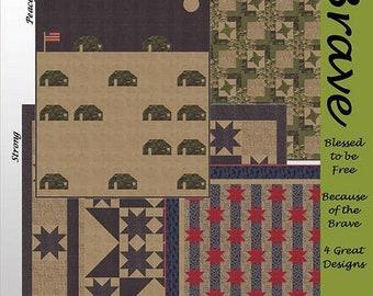 Lavender Lime Kathy Skomp Brave 4 Quilts 1 Pattern Patriotic USA QOV Quilt Pattern
