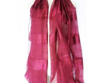 Silk soft and satiny soft scarf-shawl