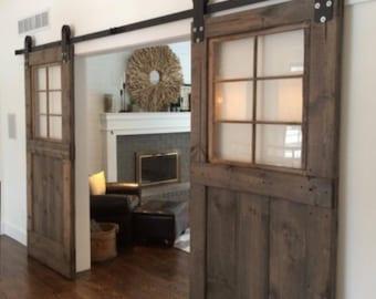 "Custom window barn doors for Kathleen- 84"" x 48"""
