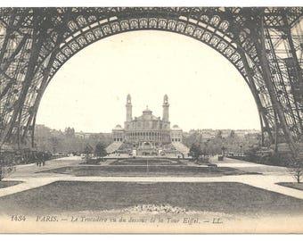 Vintage Paris Trocadero Eiffel Tower Postcard