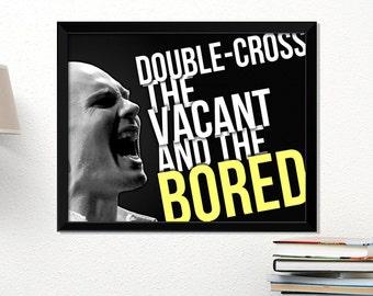 Smashing Pumpkins poster, rock poster, Billy Corgan, music art, typography art