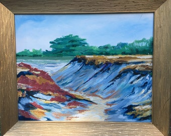 "16"" x 20"" original oil painting of Cape Cod beach by Cape artist"