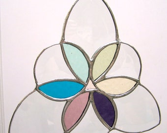 Spring Trinity stained glass-sun catcher