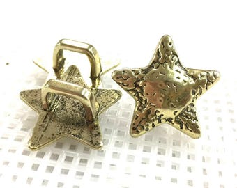 Old Gold Connector /Pendant/Between pieces_Star Shape_Pack of  pcs