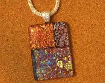 Dichroic Glass Pendant - Dichroic Jewelry - Fused Glass Pendant - Fused Glass Jewelry - Dichroic Necklace - Fused Glass Necklace - Glass