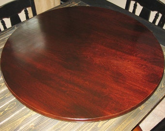 Red Mahogany Wood Lazy Susan For Table Centerpiece (Pic Stained Mahogany)  20 Inch,