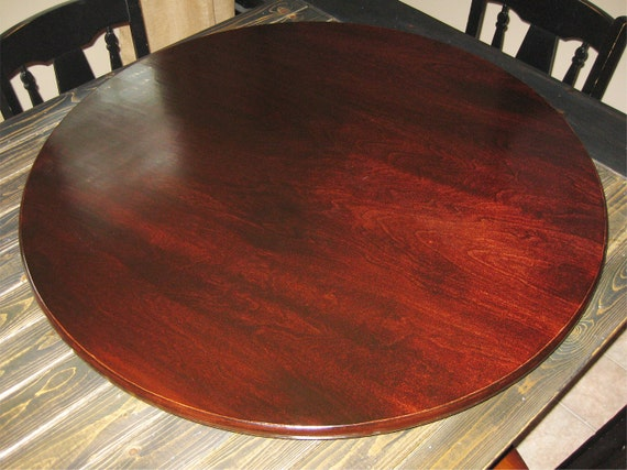 Awesome Red Mahogany Wood Lazy Susan For Table Centerpiece (Pic Stained Mahogany)  20 Inch,