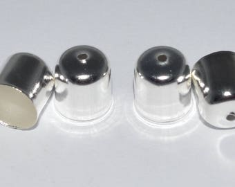 10 tips hides 10x11mm silver cord