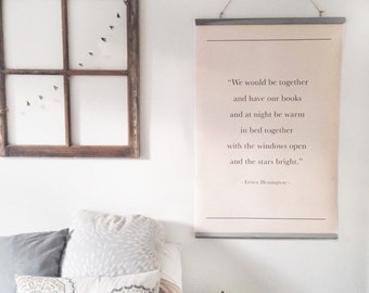 Large book page wall art quote