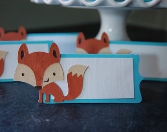 Fox Place Cards, Fox Food Labels, Woodland, Fox Party, Fox Shower, Woodland Baby Shower