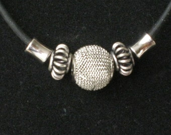 Silver beads choker - Simple, elegant or casual - One of a kind for every day!