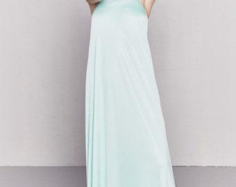 1960s Silk Nightgown | Pastel Blue Nightie
