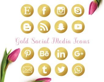 Gold social media icon, facebook, instagram, twitter, blog, digital,