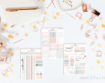 Diamond Darlings MINI Weekly Kit // 130+ Matte Planner Stickers // Perfect for your Personal Planner // WKM0580
